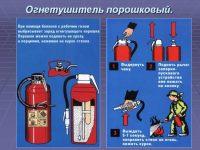 Как работает порошковый огнетушитель