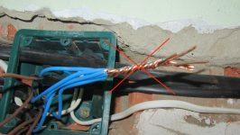 Оголенные провода нарушение ПУЭ