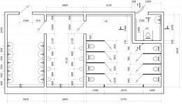 Размеры кабинки туалета в общественном здании