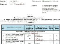 Реестр передачи исполнительной документации образец