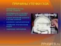Причины утечки бытового газа