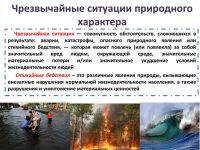 Чрезвычайные ситуации природного характера примеры в России